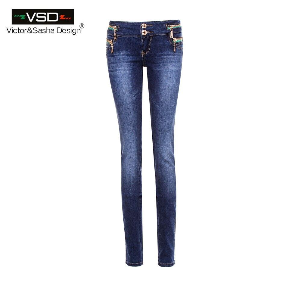 casual elastic denim jeans women vintage low waist stretch skinny pencil pants women blue color. Black Bedroom Furniture Sets. Home Design Ideas