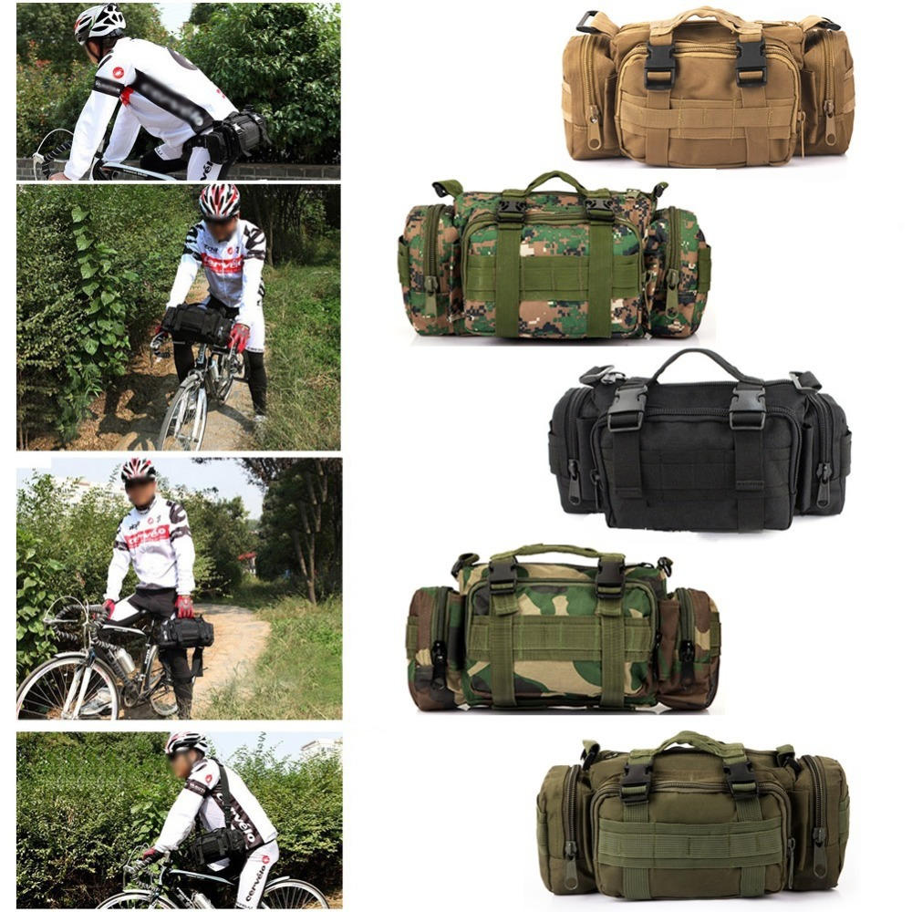 B39 Newest Outdoor Military Tactical Waist Pack Shoulder Molle Camping Hiking Pouch Bag outlife new style professional military tactical multifunction shovel outdoor camping survival folding spade tool equipment
