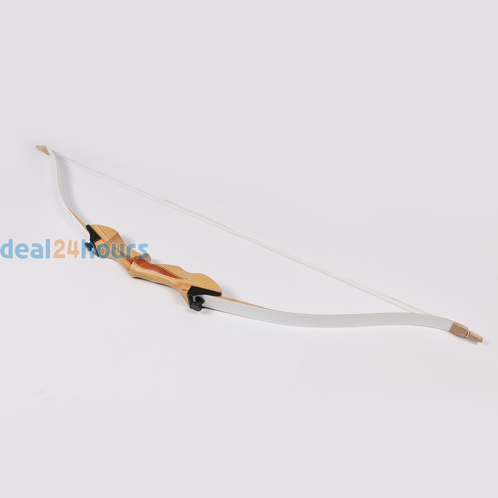 New 10 LBS 48 Outdoor Sport Archery Traditional Bow Hunting Shooting Portable Right Handed Recurve Long Bow for Children