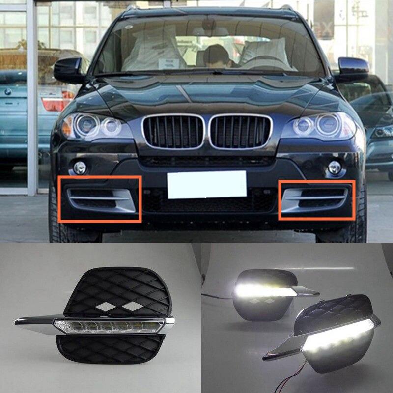 For 2011 2012 2013 BMW E70 X5 Bumper Bolt On 2x White LED