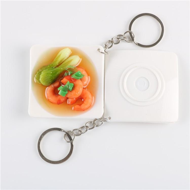 PVC 10 teile/satz Chinesisches Essen Schlüsselanhänger Spielzeug ...