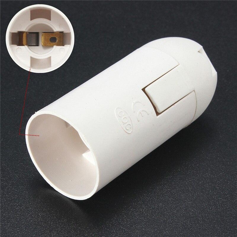 Best Promotion E14 Small Edison Screw Plastic Shell Socket Base Pendant Light Bulb Lamp Holder Converter White 250V 2A