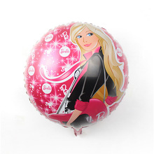 New Girls' Balloons Cool Girl 18inch Aluminum Balloons Foil Balloons Helium Balloon Birthday Party Decoration Ball Free Shipping
