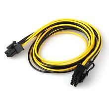 6 دبوس الذكور إلى 8 دبوس الذكور PCI اكسبرس كابل محول الطاقة ل الرسومات بطاقة الفيديو 6Pin إلى 8Pin PCI E كابل الطاقة 70 سنتيمتر