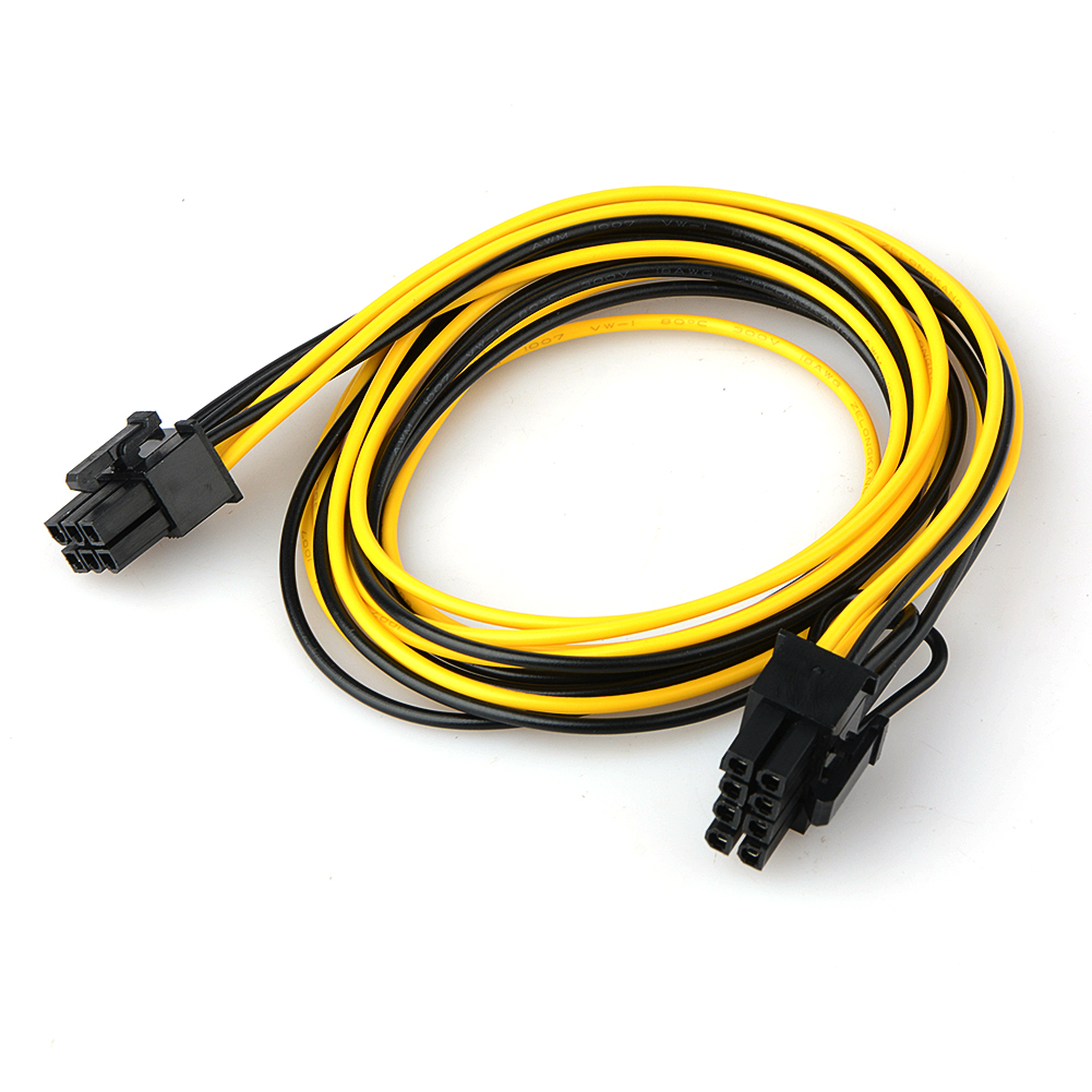 6 Pin Male To 8 Pin Male PCI Express Power Adapter Cable For Graphics Video Card 6Pin To 8Pin PCI-E Power Cable 70CM