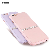 Memumi Simplicity Ultra Thin Original Anti Knock Dirt Resistant Rhinestone Fashion Cover Phone Case For Apple