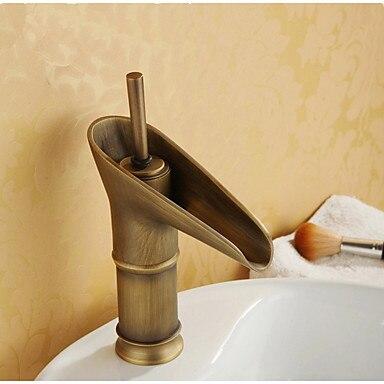 Moderne Öl eingerieben Bronze Einzigen Handgriff Waschbecken ...