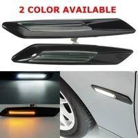 1 пара двери авто Боковой габаритный фонарь светодиодный для BMW E60 E82 E87 E88 E90 E91 источник автомобиль отложным воротником Сигнальные лампы AMBER б...