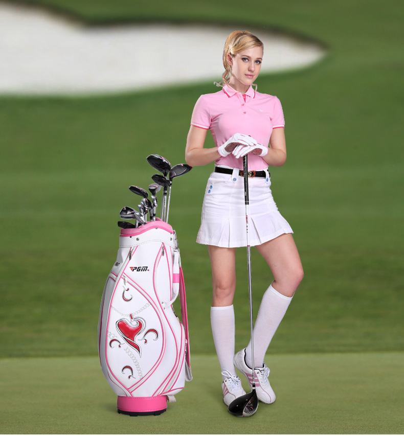 2015 sweetheart pu golf bags women golf cart bag ladies