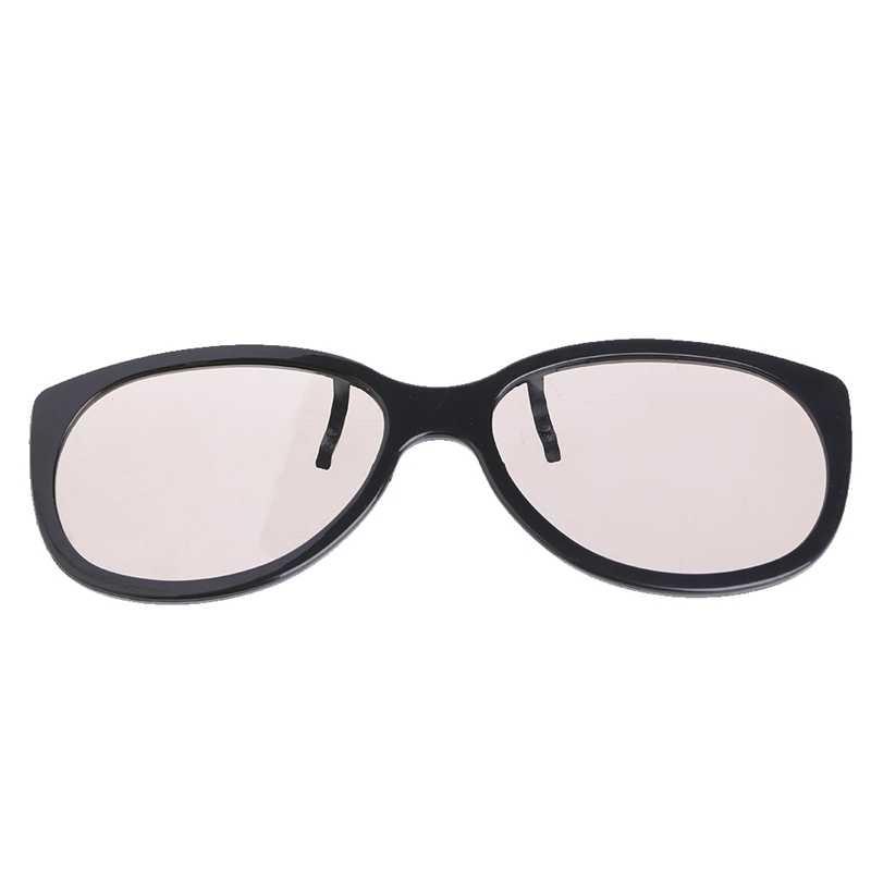 Clip-On tipo 3D gafas circulares pasivas polarizadas para TV Real 3D Cinema 0,22mm-L060 nuevo caliente