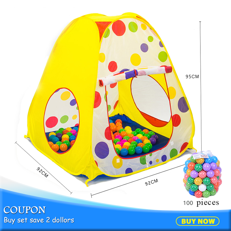 Free Shipping Portable Baby Polka Dot Play Toy Tents Children Game Garden House Outdoor Camp Tent Folding Kids Gifts 985-Q35