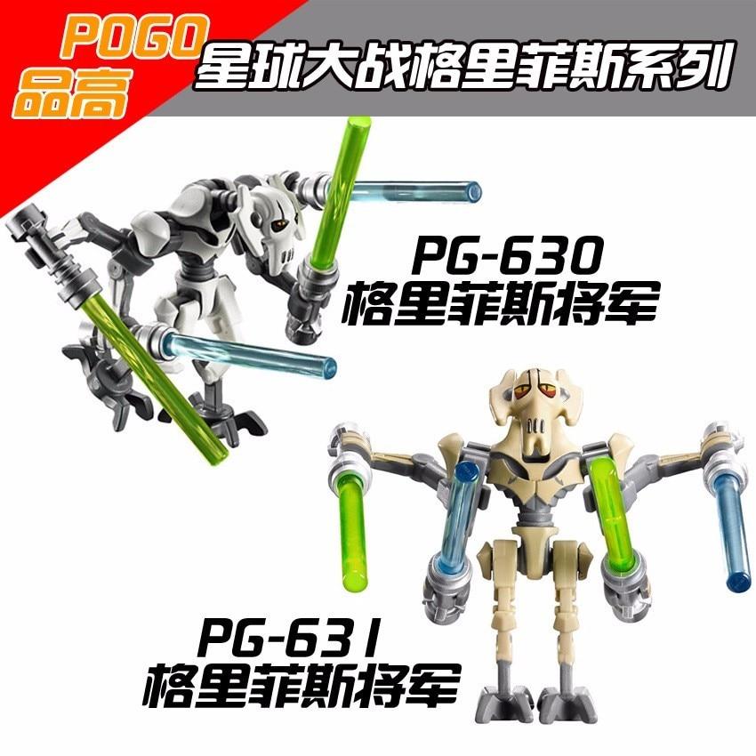 1pcs PG 630 631 Star Wars 7 mini Bricks s Blocks General Grievous With Lightsaber mini