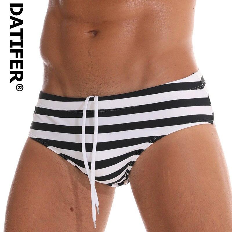 Datifer Swim Trunks Shorts Beachwear Boxers Low-Waist Sexy Men's Print Brand