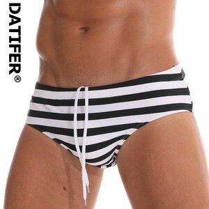 2020 Datifer Brand Print Swim Trunks Men Swimwear Low Waist Sexy Boxers Beachwear Shorts Men's Swim Brief(China)
