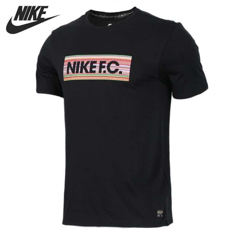 Original New Arrival 2018 NIKE FC TEE CREW Men's T-shirts short sleeve Sportswear crew neck button embellished tee