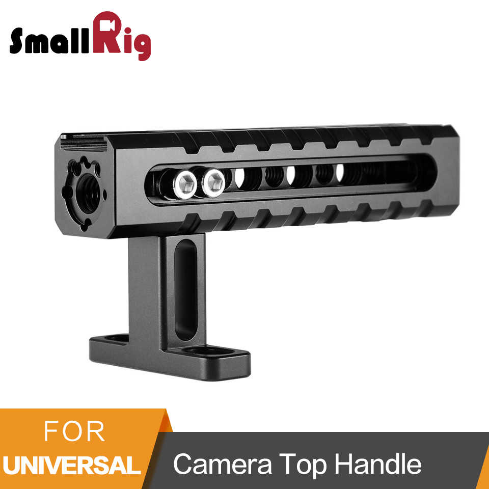SmallRig Universal Camera Top Handle with Mounting Points Shoe Mounts for Video Camera Cages LED Lights Microphones-1984