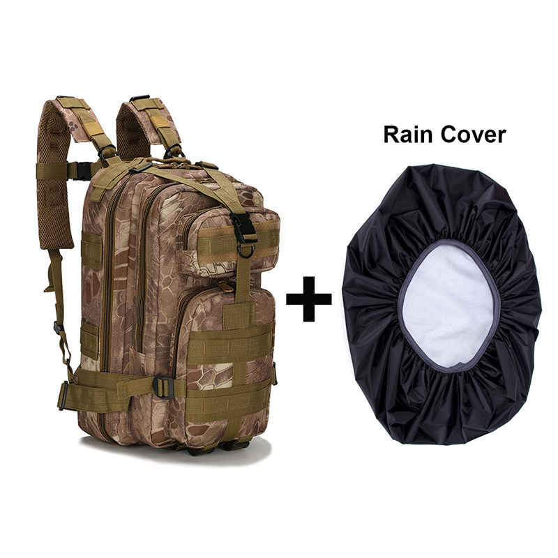 Tactical Waterproof Backpack Military Army Molle Backpack Bag Rucksack Bug Outdoor Sport Camping Hunting Hiking Bag + Rain Cover excellent elite spanker outdoor military waterproof travel backpack army tactical hiking nylon bag molle hunting sport backpack