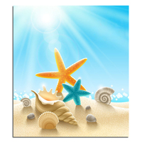 Beach In Summer 70X80 Needlework DIY Cross Stitch Sets For Embroidery Kits Cross Stitching Diamond Painting