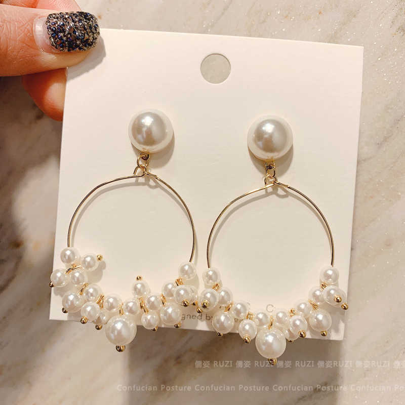 2019 new wild pearl ring stud earrings for Women Korean Minimalist Earrings Jewelry Accessories