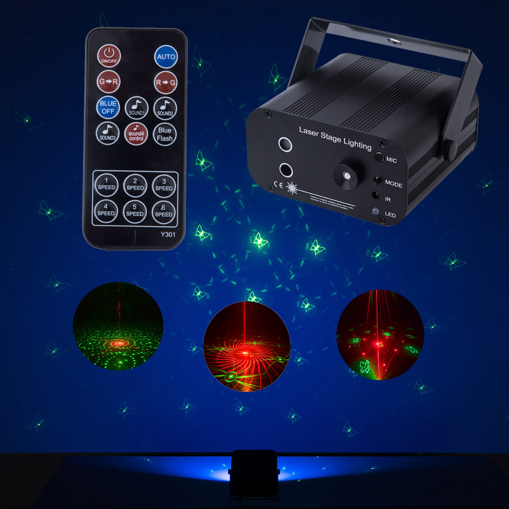 New Laser Projector 48 Patterns Lights Switchable Pattern Lens For Wedding Christmas Halloween Holiday Light