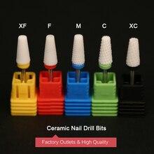 2PCS /Lot Nail Care Cone Shape Ceramic Manicure Machine Drill Bit Electric Nail Milling Cutter lampnail ceramic carbide nozzle cutter nail drill bit for electric manicure machine