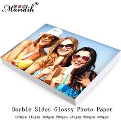 ورق طباعة الصور عالي اللمعان 50 ورقة A4 مزدوجة الجانب للطباعة