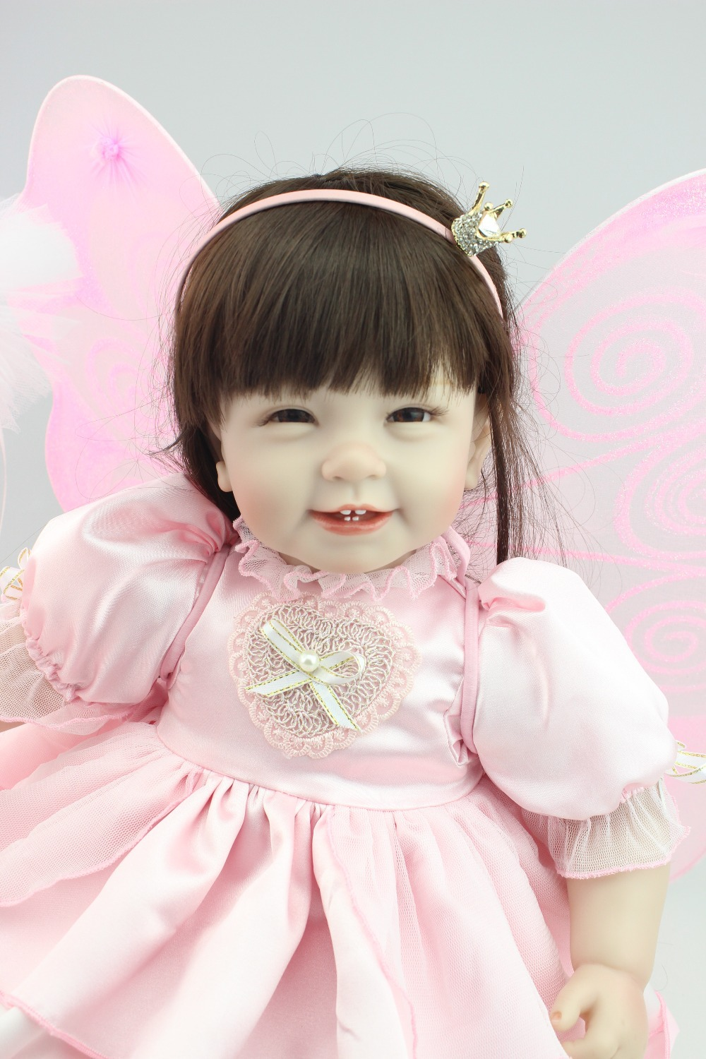 2015 NEW design Reborn toddler girl doll sweet butterfly doll baby doll Birhtday Gift Toys for