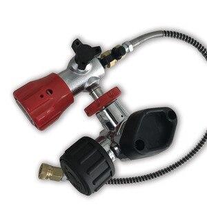 Image 2 - AC201 HPA Klep Gebruikt voor Carbon Fiber/Paintball/PCP Cilinder/Tank M18 * 1.5 4500PSI voor Luchtdruk & vul Station met Slang Acecare