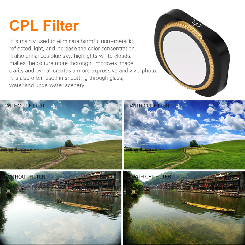 MCUV for DJI OSMO Pocket Filters Optical Glass Vlog Filters UV CPL ND8 NDPL Camera Lens Filter Kit for DJI OSMO Pocket Gimbal Accessories