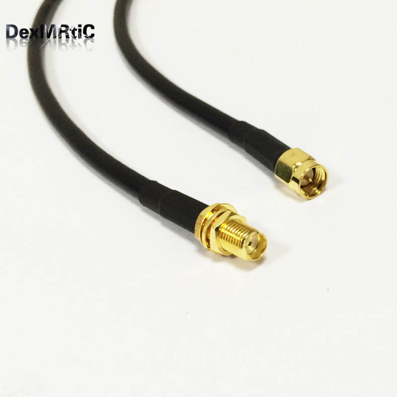 WiFi Antenna cable SMA  Male To SMA Female nut  Pigtail adapter 50CM for wifi router extension adapter wholesale rp sma male plug to female jack connector adapter 3m antenna extension cable for wifi router