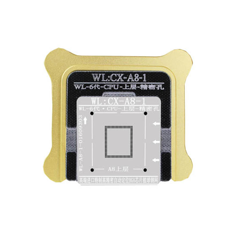 NEW WL Best For iPhone5 6 7 CPU NAND A7 A8 A9 A10 Processor BGA Reball Tin Net Stencil Great Repairing Tool Base new chip bga reballing stencil for iphone 5 6 7 a7 a8 a9 a10 cpu ram upper lower reball tool stencils ppd planted tin mold set