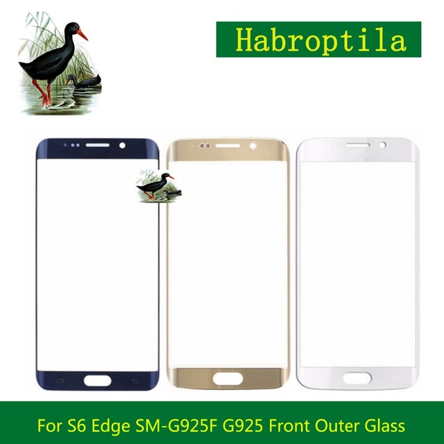 10Pcs/lot For Samsung Galaxy S6 G920 G920F S6 Edge SM-G925F G925 G9250 Plus G928 G928F Touch Screen Panel Front Outer Glass Lens