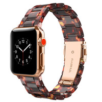 Watchband for Apple Watch Band 40mm 38mm 42mm 44mm Resin Strap Bracelet for Apple Watch iWatch Series 4 3 2 1 Wristband