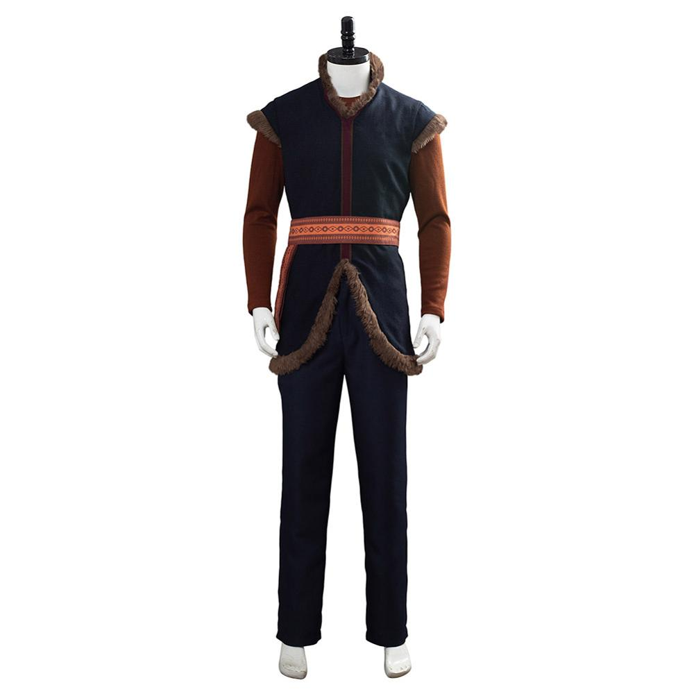 Anime reine des neiges Prince Kristoff Cosplay Costume unisexe adulte chaud Costume pour Halloween carnaval fête - 2