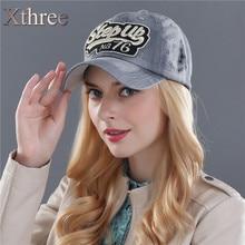 Xthree ritzy jeans baseball caps fashion snapback cap cap hat for men and women hat gorras casquette