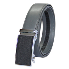 New Designer Popular Luxury Cowhide Leather Belt Man Gray Automatic Buckle Belly Waist Business Casual Belts For Men 3.5 Width