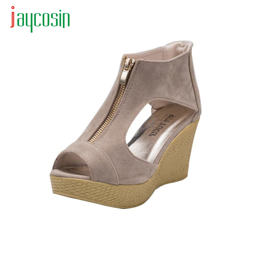 New Hot Women Shoes Summer Sandals Casual Peep Toe Platform Wedges Sandals Shoes 17Mar15 phyanic 2017 gladiator sandals gold silver shoes woman summer platform wedges glitters creepers casual women shoes phy3323