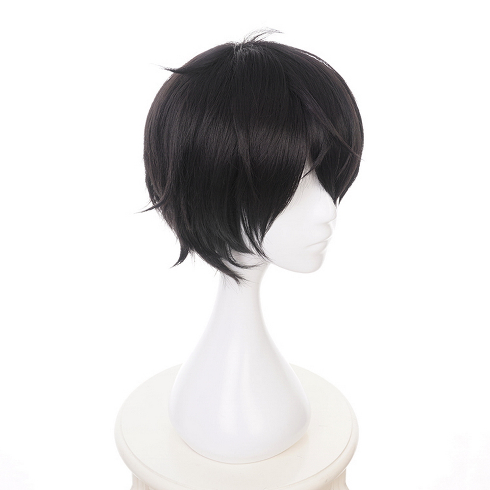 DARLING in the FRANXX Short Black Wig Cosplay Hiro Synthetic Hair Halloween Costume Anime Perucas Party Wigs For Men Wig Cap in Anime Costumes from Novelty Special Use