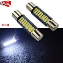 2pcs Super Bright Festoon CANBUS ERROR FREE Xenon White 31MM C5W 2835 2SMD Dome Interior LED Licence Plate Light