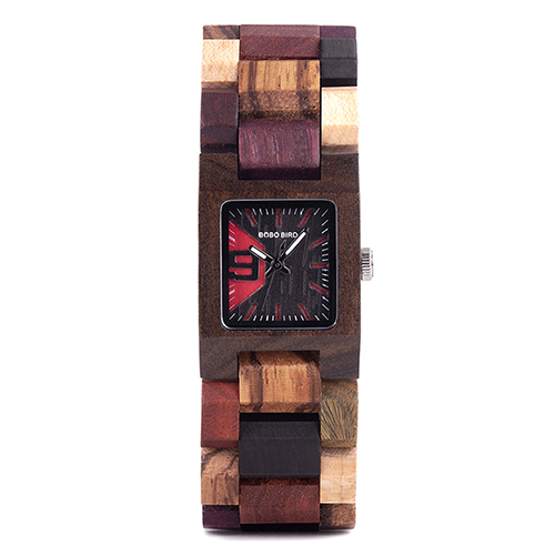 Women's Square Shaped Wooden Watch