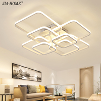 Remote Control LED Chandeliers for Living Room 4 6 8 heads AC 85 265V Home Decorative Chandelier Lamparas techo Fixtures lustre
