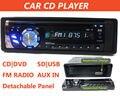 Destacável Painel Do Carro Receptor CD Som Do Carro DVD Player 1 Din In-Dash 12 V Áudio Do Carro FM rádio TV OUT/USB/SD/MMC Controle Remoto controle