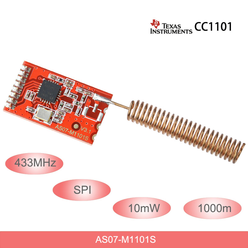 433mhz Cc1101 Wireless Rf Module 10mw 1km Spi Rf Transmitter And Receiver Dip Smd Package With Spring Antenna Aliexpress