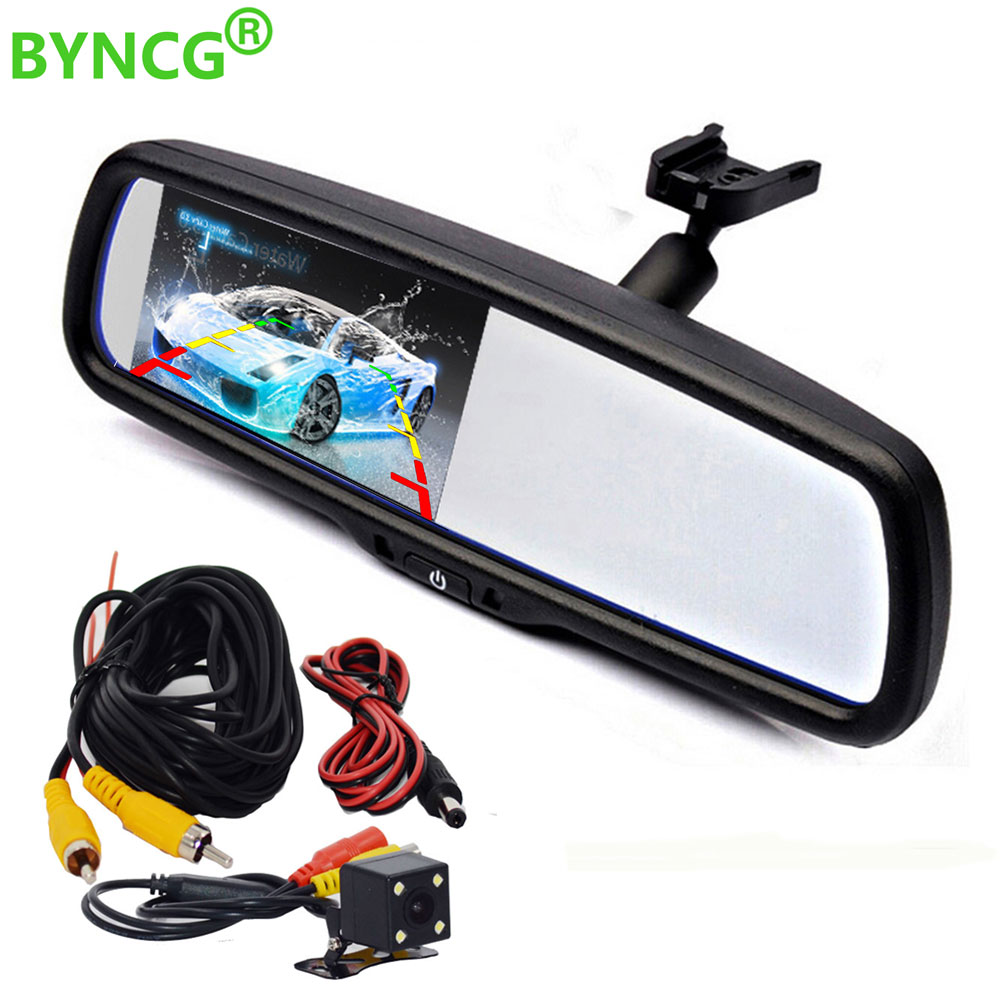 цена на Rear View Camera 4.3 TFT LCD Car Parking Rearview Mirror Monitor With Special Bracket for Chevrolet Cruze/Epica/Aveo/Malibu/