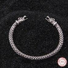 Yage DropShipping 925 Sterling Silber rune Drachen/Wolf viking armband einstellbar
