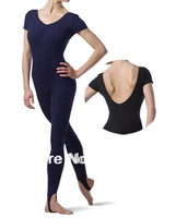 Wholesale Adult Long Unitard Women Ballet Short Sleeve Unitards Ballet Practicing Clothes Girls Dance Wear CS0042