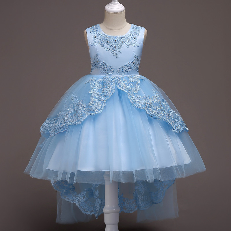 Princess Dress for Girl Formal Kids Dresses for Girls Birthday Party Wedding Lace Dress Big Girls Dresses Party Age 3 -15 Years flower girls blue wedding dresses for little girls dress evening party dresses summer teens big girl wedding dress 3 12 years