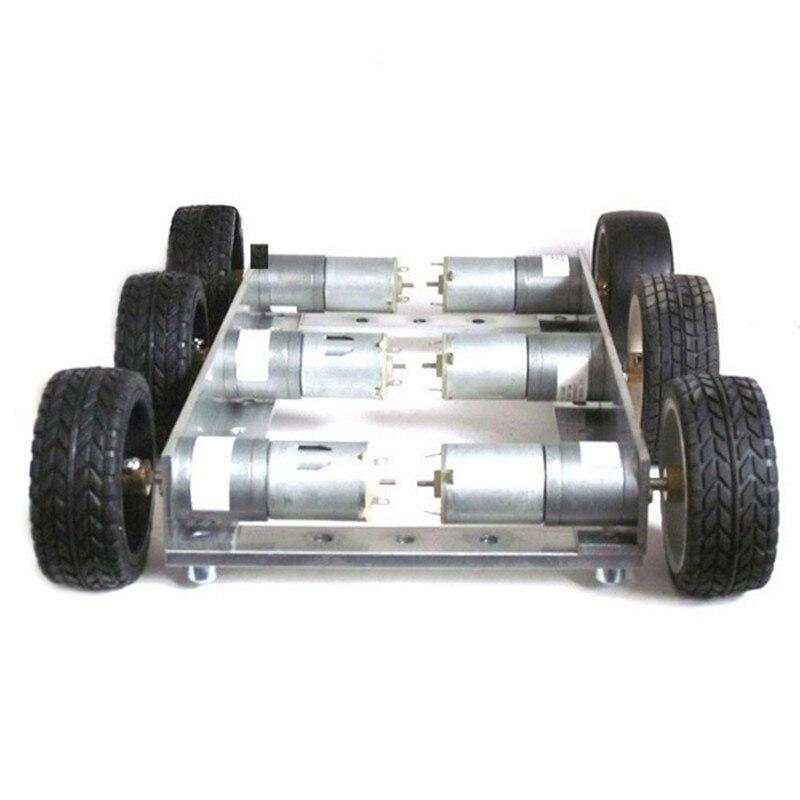 Diy 6wd 1:34 metal inteligente rc carro robô 330 rpm 0.24a controle remoto robô chassi base kit & 12 v CGM 25 370 motor crianças brinquedos
