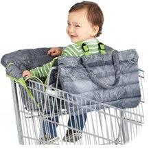 Водонепроницаемый 2-в-1 Детские покрывало для магазиннной тележки& высокое чехлы на стулья с ремнями безопасности для младенцев и детей ясельного возраста