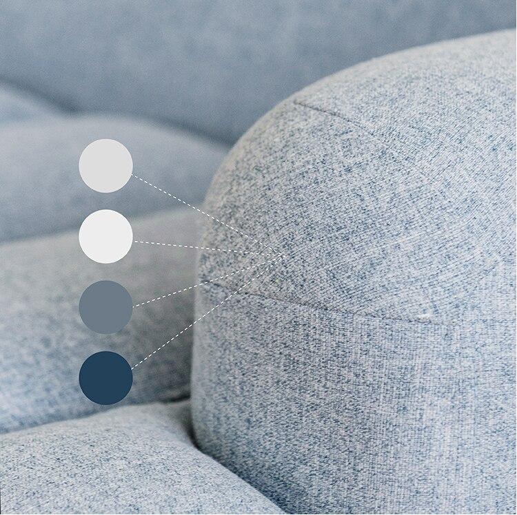 [InYard original] wave three people sofa / fabric solid wood sofa / solid wood Nordic living room designer furniture